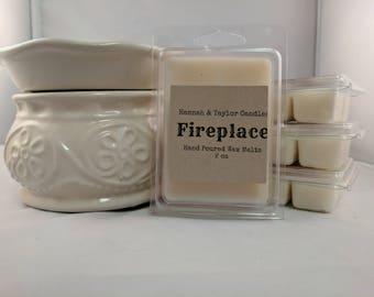 Fireplace Wax Melt | Handmade Wax Tart | Fireside Smoke Scented Wax Tart | Campfire Candle | Summer Fall Scent | Campfire Smoke Soy Wax Melt