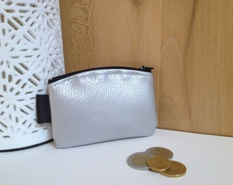 Silver leatherette wallet