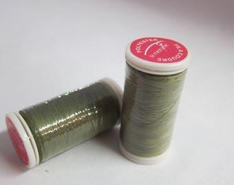 Thread green 100% polyester 200 m
