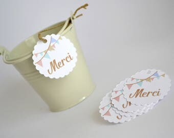15 gift tags thank you - welcome gift - wedding ceremony-