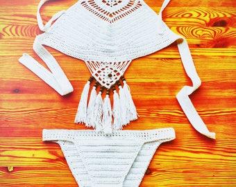Hand crochet swim suit