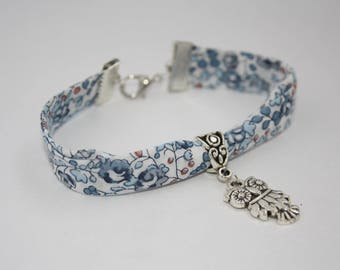 Liberty Blue and white OWL bracelet
