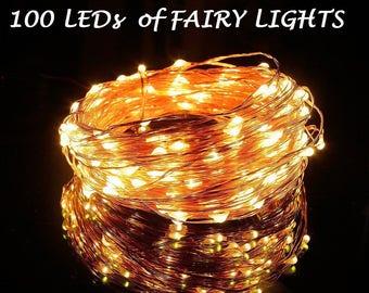 5 Pack of 100 LEDs Fairy Lights, Wedding Decorations lights, LED Mason Jar light Wedding Decor, firefly Lights, Halloween fairy lights
