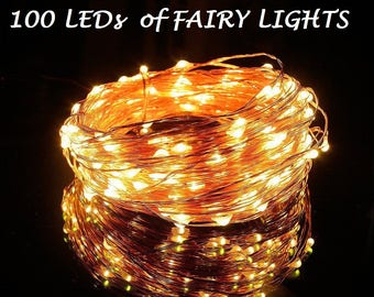 10 Pack of 100 LEDs Fairy Lights, Wedding Decorations lights, LED Mason Jar light Wedding Decor, firefly Lights, Party fairy lights