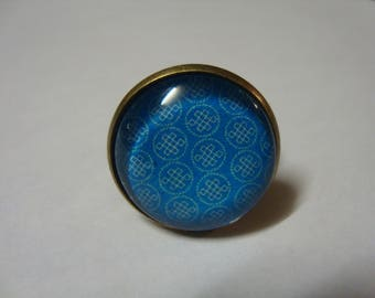 Adjustable ring with cabochon 20mm