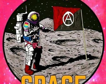 STICKER: Fully Insurrectionay Luxury Queer Space Anarchism