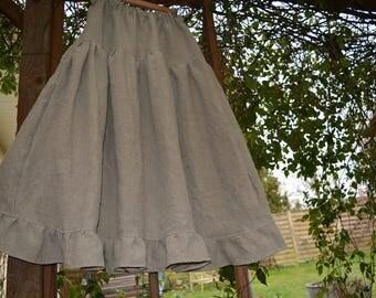 natural linen underskirt