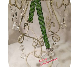 Bracelet weaved in seed beads and clasp tube
