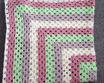 SALE- Ready to ship- Granny Square Blanket