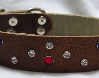 Handmade Leather Dog Collar - The Double V