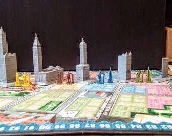 3D Skyscrapers for New York 1901 Board Game