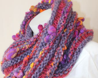 Snood Alpaca Merino Wool and silk original