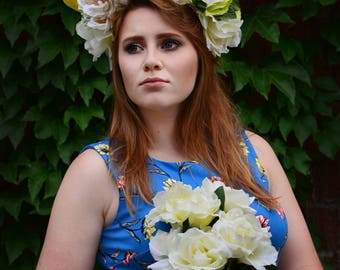 Gold Winged Floral Headpiece