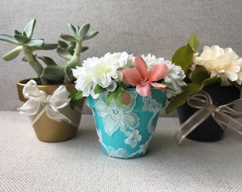 Hand designed clay pots
