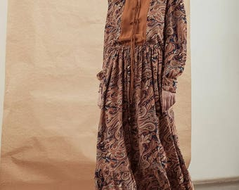 Maxi Floral Silk Dress