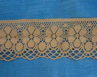 370 cm 66 mm wide lace salmon beige color