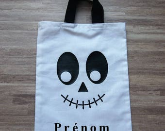 Child tote bag personalized for Halloween