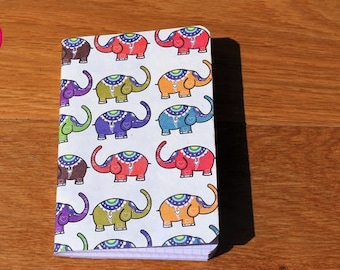 Pretty notebook decorated elephant size 9 * 14 cm