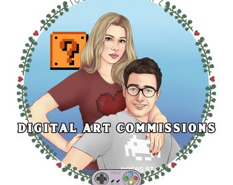 DIGITAL ART Couple COMMISSIONS | Limited!