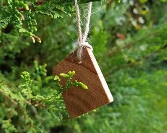 Wooden Christmas tree decoration.