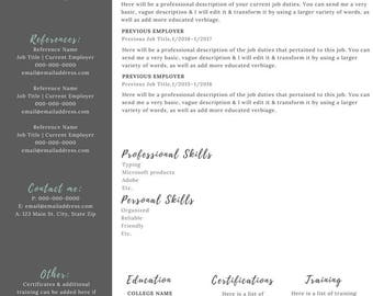custom resume etsy