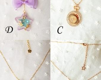 Resin design necklace