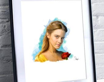 Limited Availability - Emma Watson Painting Print