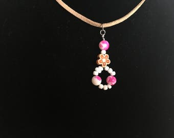 Floral Beaded Pendant