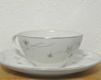 Vintage Teacup and Saucer, Star Dust