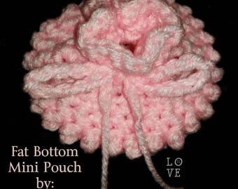 PDF CROCHET PATTERN Fat Bottom Mini Pouch / Party Favors / Petite / Textured / Mini Treat Bag