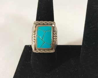 Early Navajo Turquoise Ring