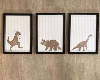 Set Of 3 Dinosaur Prints