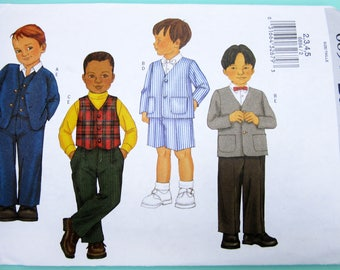 Butterick 6894 Boy's Jacket, Vest, Shorts & Pants Pattern Unused Vintage Sewing Pattern