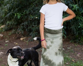 Green Tie Dye Magic Maxi - Child Extra Small