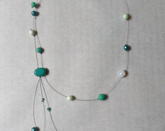 Asymmetrical necklace lagoon