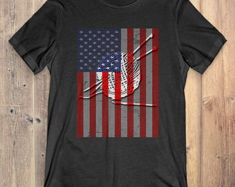 Crochet T-Shirt Gift: American Flag