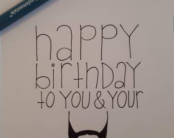 Funny beard birthday card