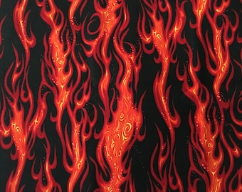 Flame Movin' On Fabric