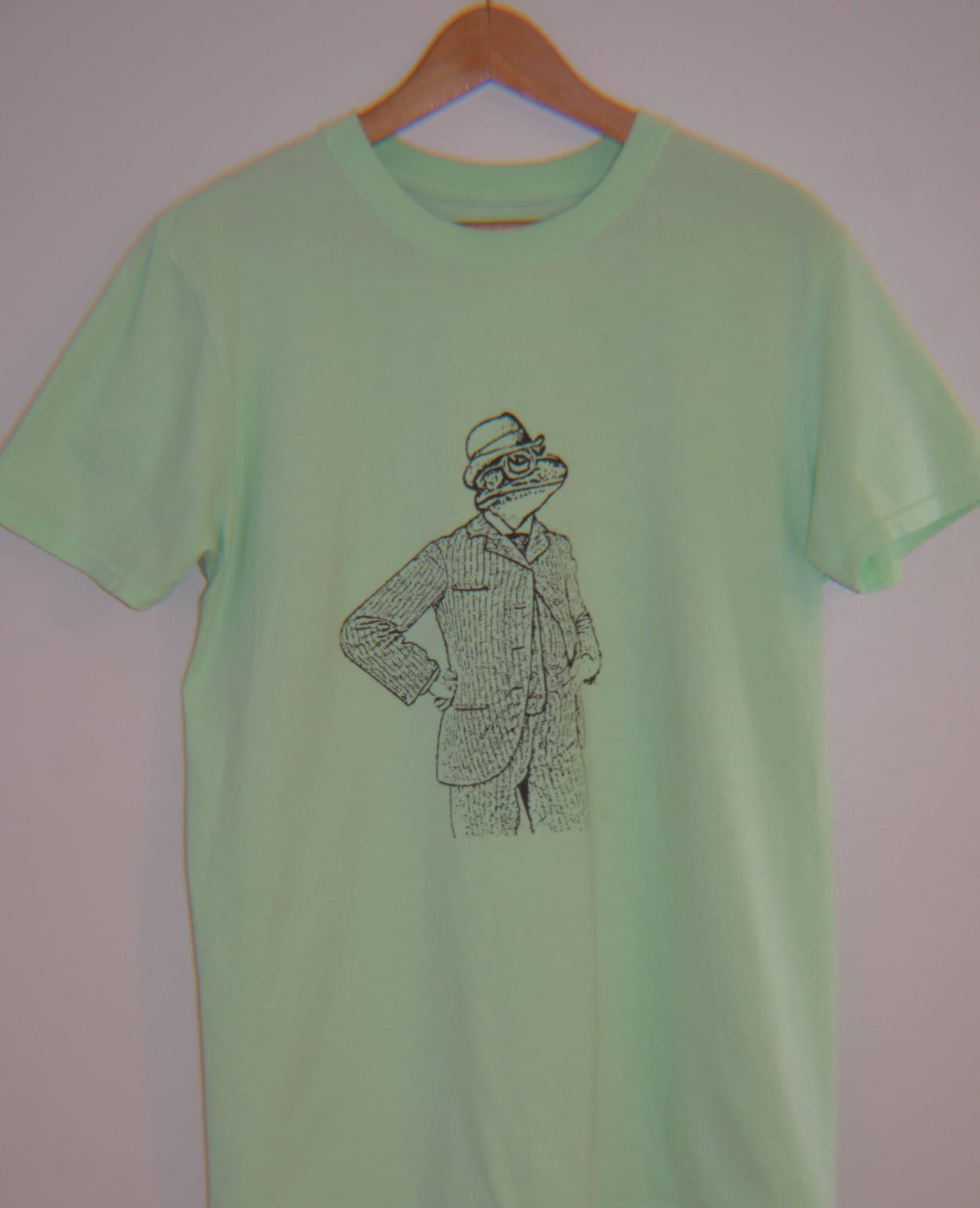 Youth T Shirt Funny Animal Shirt Frog Gentleman Youth T Shirt Screen