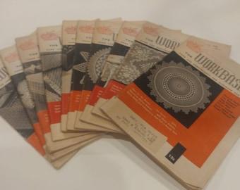 Set of 10 Vintage 1958 Workbasket Magazines