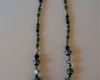 Jewelry Green Gold Black Gray Set