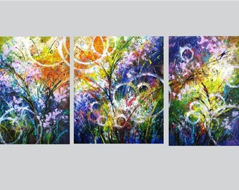 Extra Large Wall Art Abstract Canvas Art Huge Abstract Art 3 Panel Huge  Canvas Wall Art