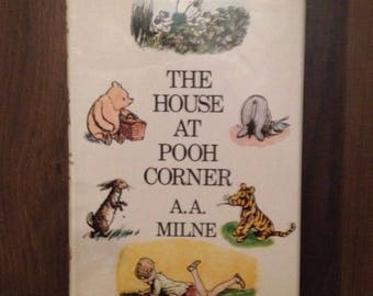 Vintage The House at Pooh Corner (Winnie the Pooh - A.A. Milne) Hardback Book - 1989