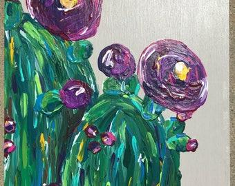 Cactus Painting, Succulent Painting, Flower painting, Desert Floral