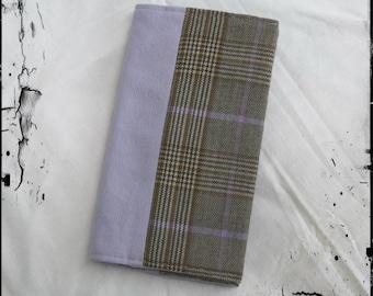 "Scottish checkbook ""highlander purple and grey"""