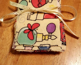 Reusable Flannel Wipes/Washable Baby Wipes/Clothe Diaper