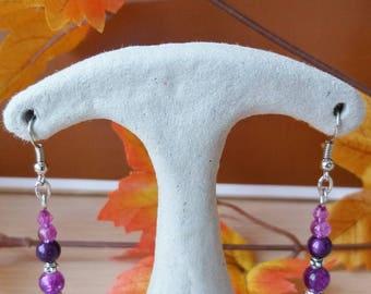 """Earrings """"Purple""""Ref. 64 purple tones."""