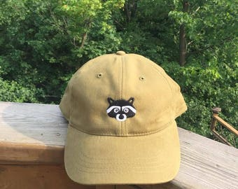 Raccoon Logo Hat (Olive)