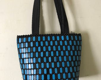 BLACk and BLUE CHECKERED PURSE