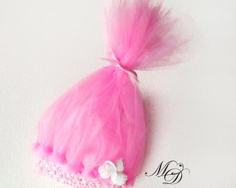 Pink troll hair Princess Poppy hair Troll headband Troll Hair party Poppy troll headband Troll birthday party Princess Poppy baby headband